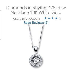 Jewelry - Diamonds in rythem necklace